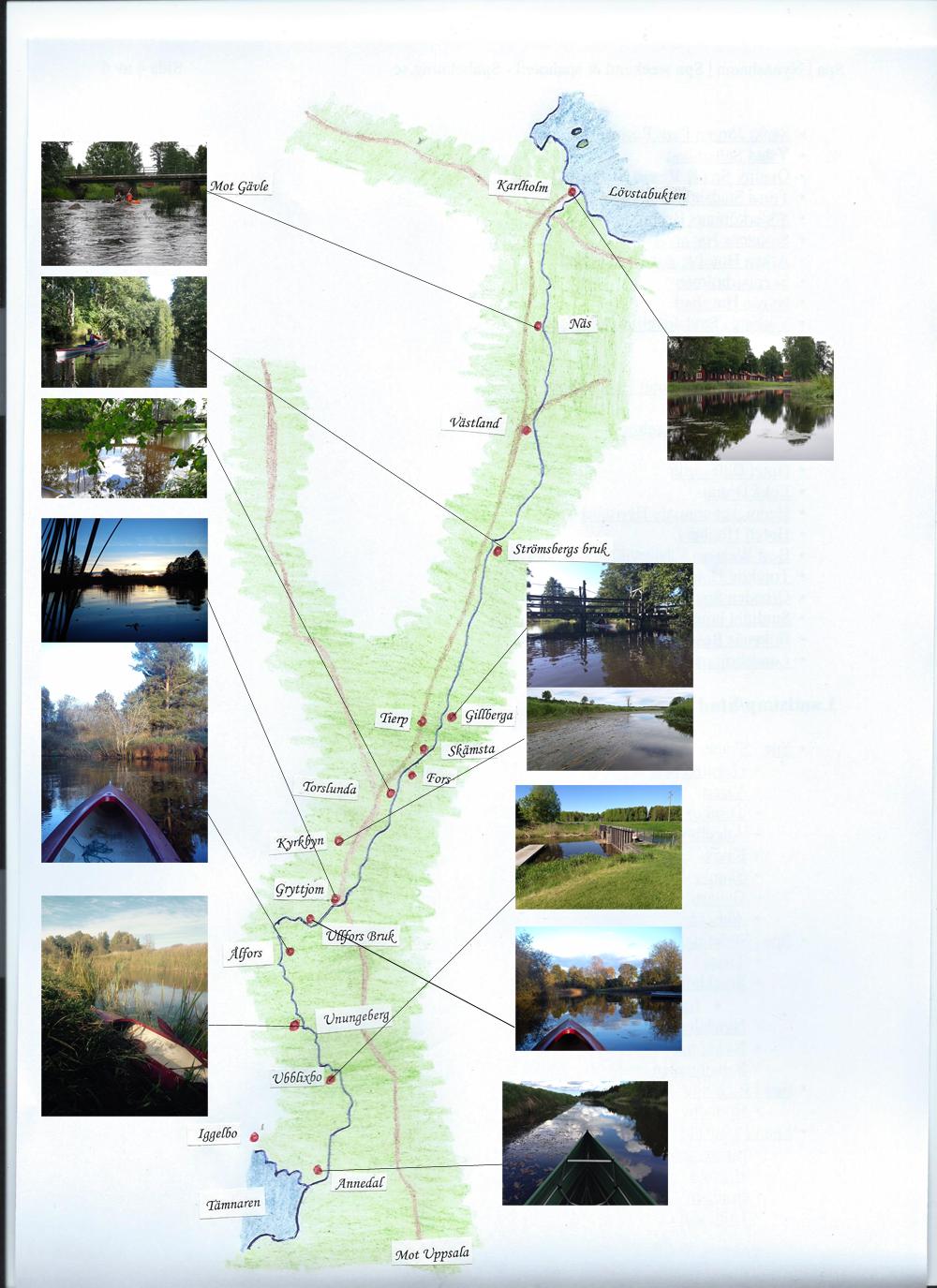 Karta Tämnarån med bilder